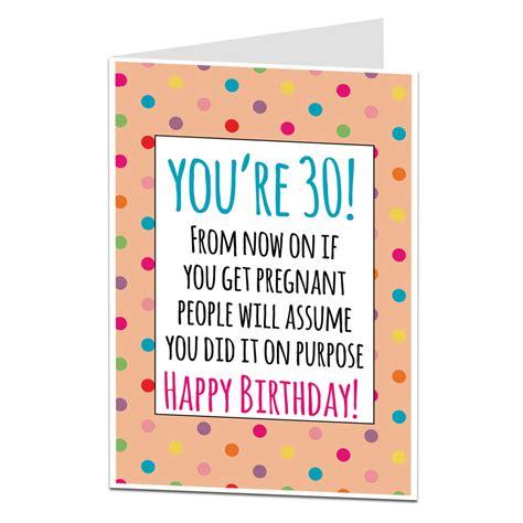 funny  birthday card    pregnant joke