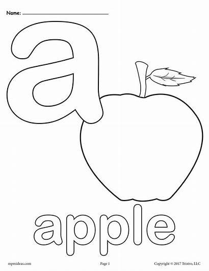 Coloring Alphabet Printable Letter Letters Alphabets Lowercase