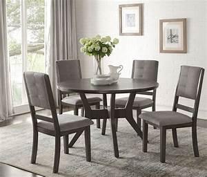 Nisky, Gray, Round, Dining, Room, Set, From, Homelegance