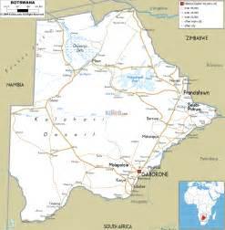 Botswana Map - Road Map of Botswana Botswana