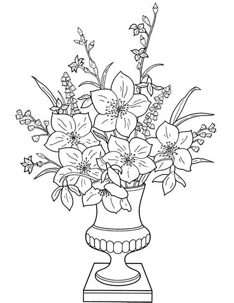 imagenes de jarron de flores para colorear flores dibujos de flores dibujos
