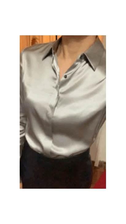 Satin Silk Shirt Blouses Blouse Tops Pure