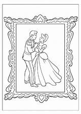 Coloring Pages Cinderella Dancing Ballroom Prince Charming Print Framed Getcolorings Colouring Printable Happy sketch template