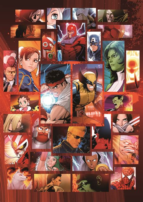 High Resolution Marvel Vs Capcom 3 Promotional Art By