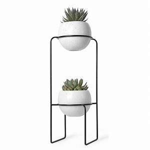 Porte Plante Interieur Design : etagere porte plantes design metal noir 2 pots en ceramique umbra 1008047 748 ~ Teatrodelosmanantiales.com Idées de Décoration