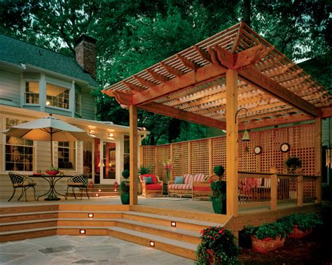 pergolas traditional deck atlanta by atlanta