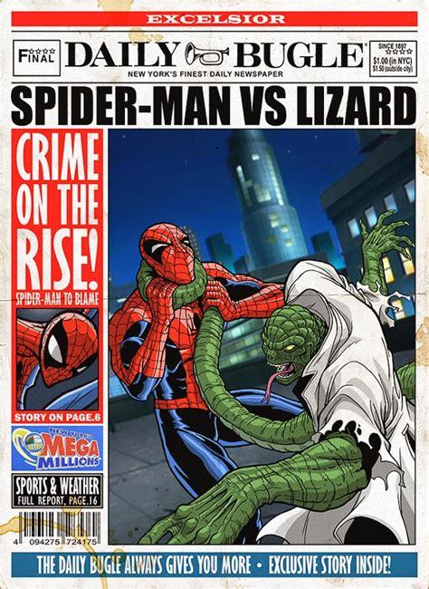 classic spider man villain art   daily bugle