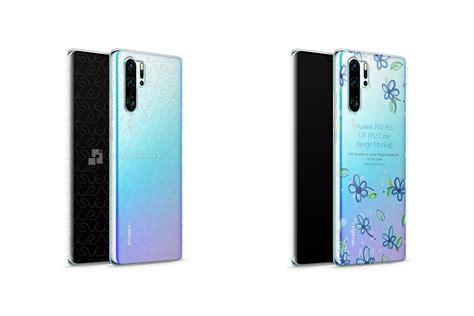 More than 100 categories, over 5000 mockups. Huawei P30 Pro UV TPU Clear Case Mockup 2019 Front-Back ...