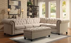20 best coaster sectional sofas sofa ideas With roy button tufted sectional sofa with armless chair
