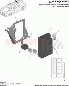 Aston Martin Vanquish  2012   Load Compartment Fuse Box  Volante Parts