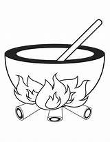 Cauldron Coloring Pages Halloween Clipart Cliparts Template Library Printable Clip Templates Sheknows Printables sketch template