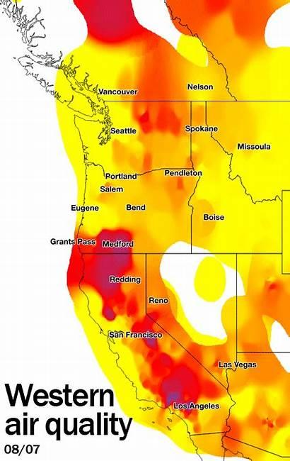 West Air Coast Smoke Portland Wildfire Map