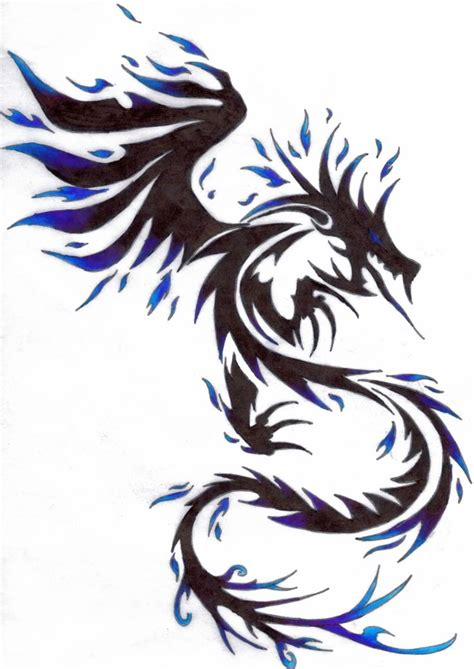 28 Best Fire Dragon Tribal Tattoo Designs Images On