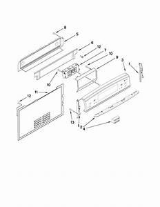 Control Panel Parts Diagram  U0026 Parts List For Model