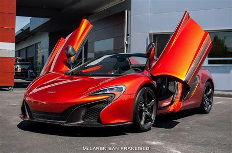 2015 650s Car Mclaren Orange Spider Supercar Vehicle
