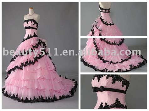 Pink And Black Prom Dresses 20 Background