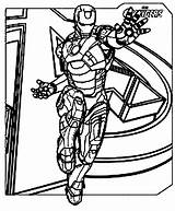 Iron Avengers Coloring Tony sketch template