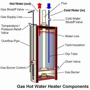 Anatomy Of A Tank Type Gas Water Heater Inside Hot Water