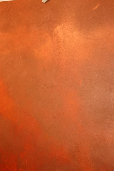 what color is copper orange wall fabulously finished