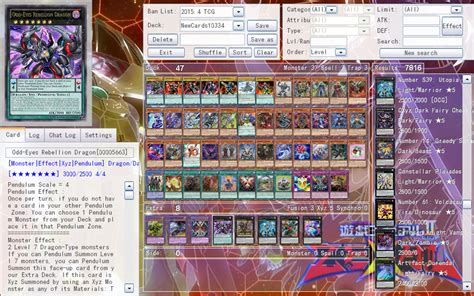 tcg deck builder 2015 ygopro release notes ygopro 1 033 4 rebellion