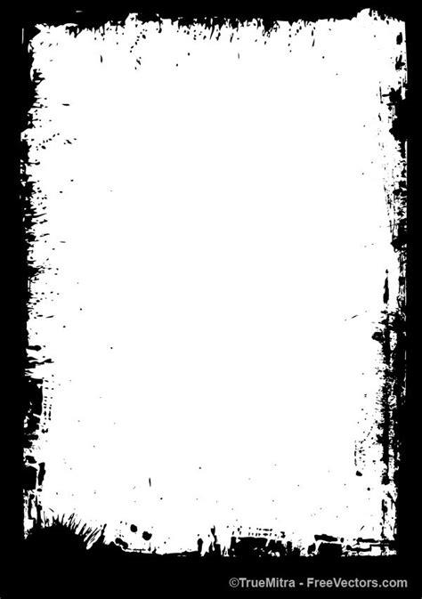 free grunge edge frame vector illustration