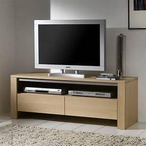 Meuble Tv Chene Massif Moderne : meuble tv chene massif contemporain ~ Teatrodelosmanantiales.com Idées de Décoration