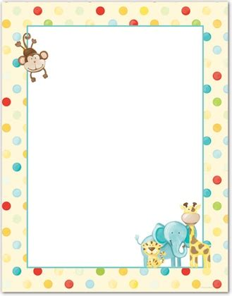 Baby Jungle Animals Wallpaper Border - baby animal clipart borders clipartsgram