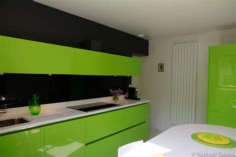 cuisine laquee cuisine leicht couleur verte