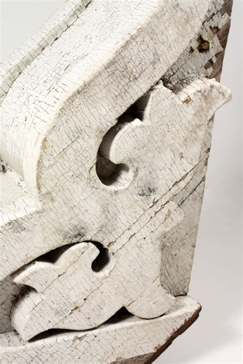 Antique Wood Corbels For Sale by Three Matching Antique Wood Corbels With White Crackled