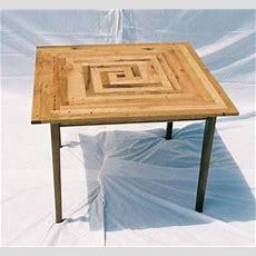 Custom Square Oak Kitchen Table By Michael Prettenhofer