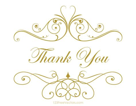Free Thank You Clipart Thank You Clipart Free 123freevectors
