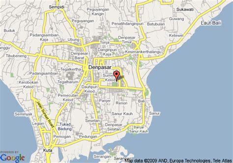 map  bali hyatt denpasar