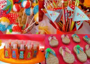 Image of: Mkr Creations Beach Party Theme Favor Applicable Beach Theme Décor With Fresher Ideas And Results