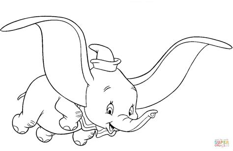 Dumbo, The Flying Elephant Coloring Page