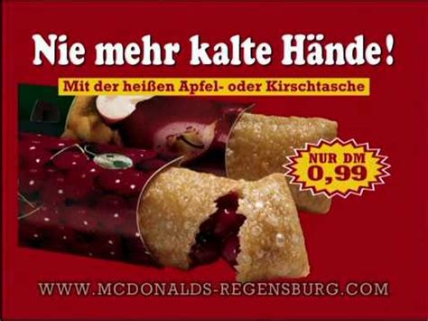 Mcdonalds Regensburg Apfeltasche Tvwerbung 1998 Youtube