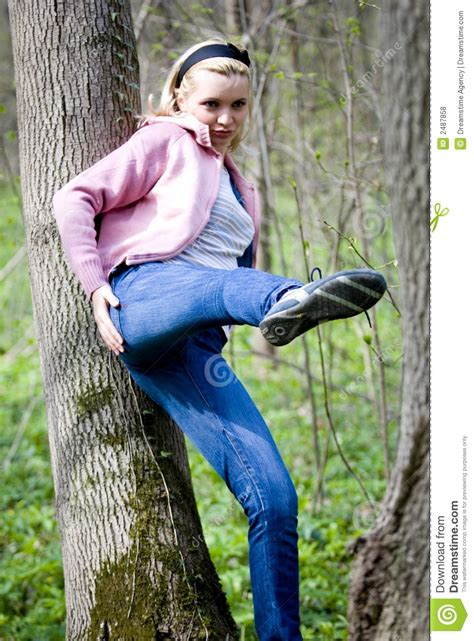 woman leaning royalty  stock  image