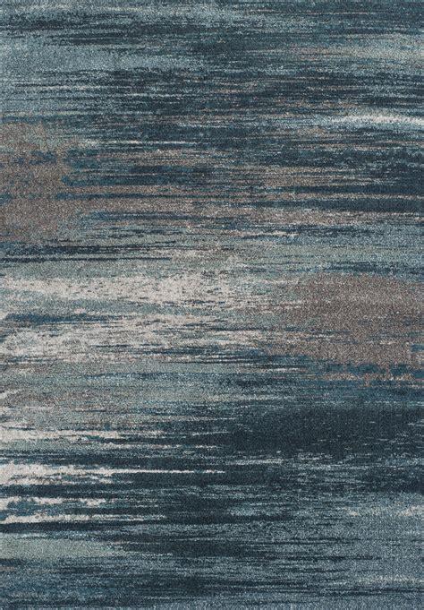 modern grey teal premium polypropylene rug soft