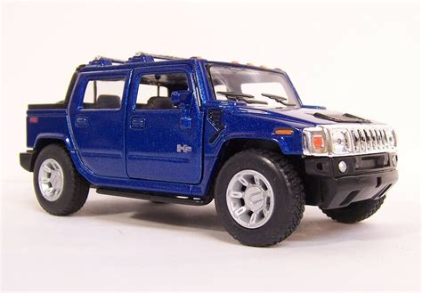 blue  hummer  sut car truck suv vehicle diecast