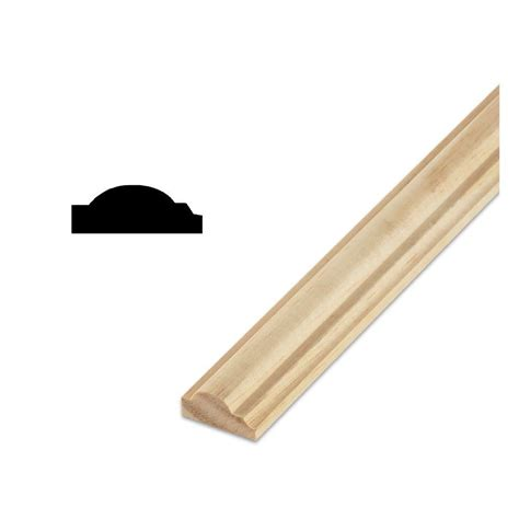 trim at home depot decramold dm a9 9 16 in x 1 3 16 in x 96 in solid pine wall and cabinet trim moulding