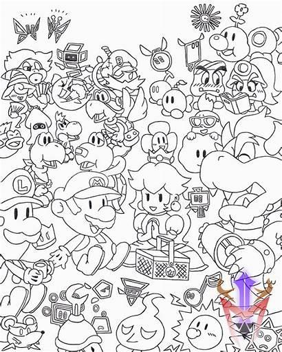 Mario Paper Drawing Picnic Cubicle Deviantart Drawings