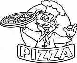 Pizza Drawing Coloring Pages Hut Getdrawings Drawings sketch template