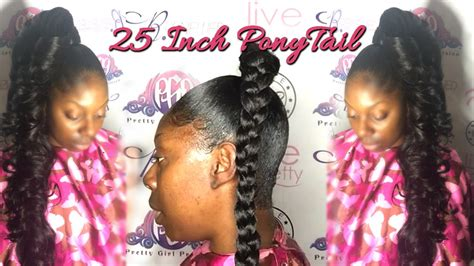 How To Do A 25 Inch Ponytail With 10 Inch Hair| Princess