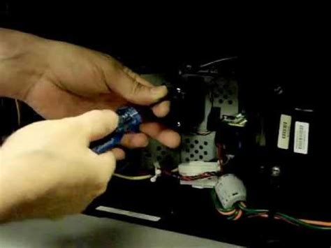 Mitsubishi Tv White Dots On Screen by Mitsubishi Tv Repair Wd 65733 Optical Engine Removal For