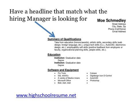 School Resume Tips by Best High School Resume Tips You Will Read This Year