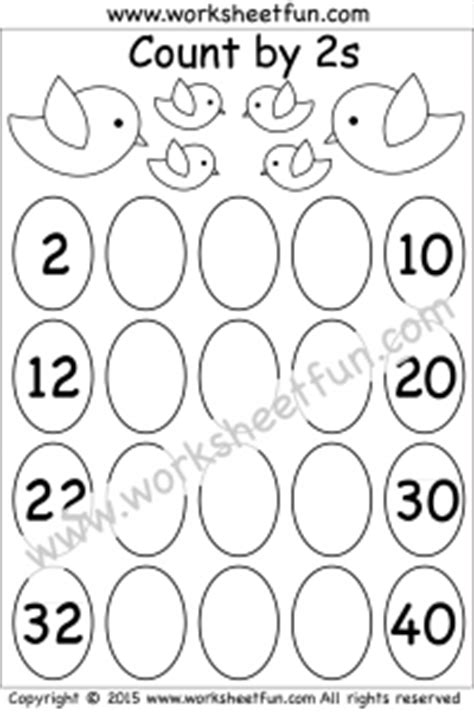 skip counting by 2 count by 2s 1 worksheet free