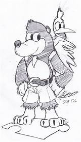Banjo Kazooie Bigdead93 Pages Colouring Deviantart Drawings Again Bar Looking Case Don sketch template