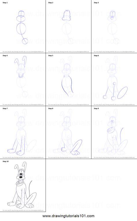 draw pluto printable step  step drawing sheet