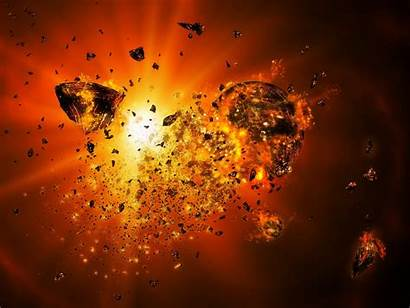 Space Explosions Outer Wallpapers Sciences Eksplozji Gwiezdnej