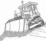 Bulldozer Coloring Crane sketch template