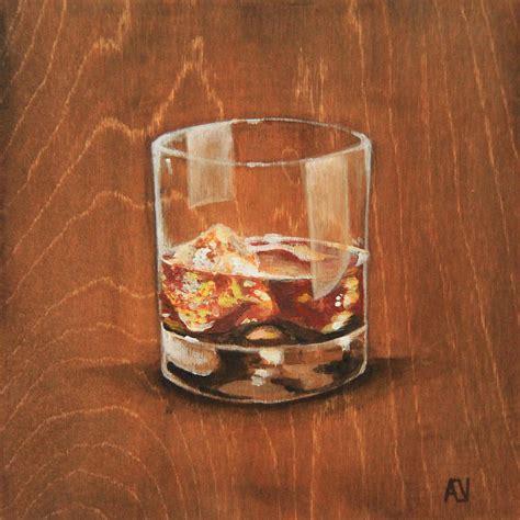 whiskey on the rocks whiskey on the rocks painting by aubrey verzyden